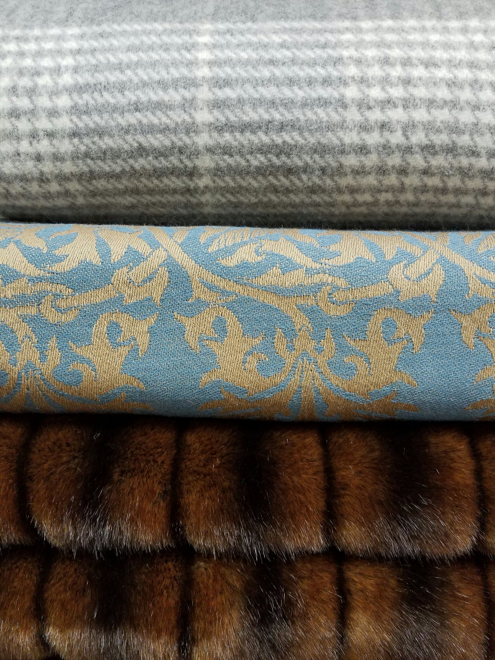Cashmere(Top), Merino Wool(Middle), Faux Fur Throws(Bottom)