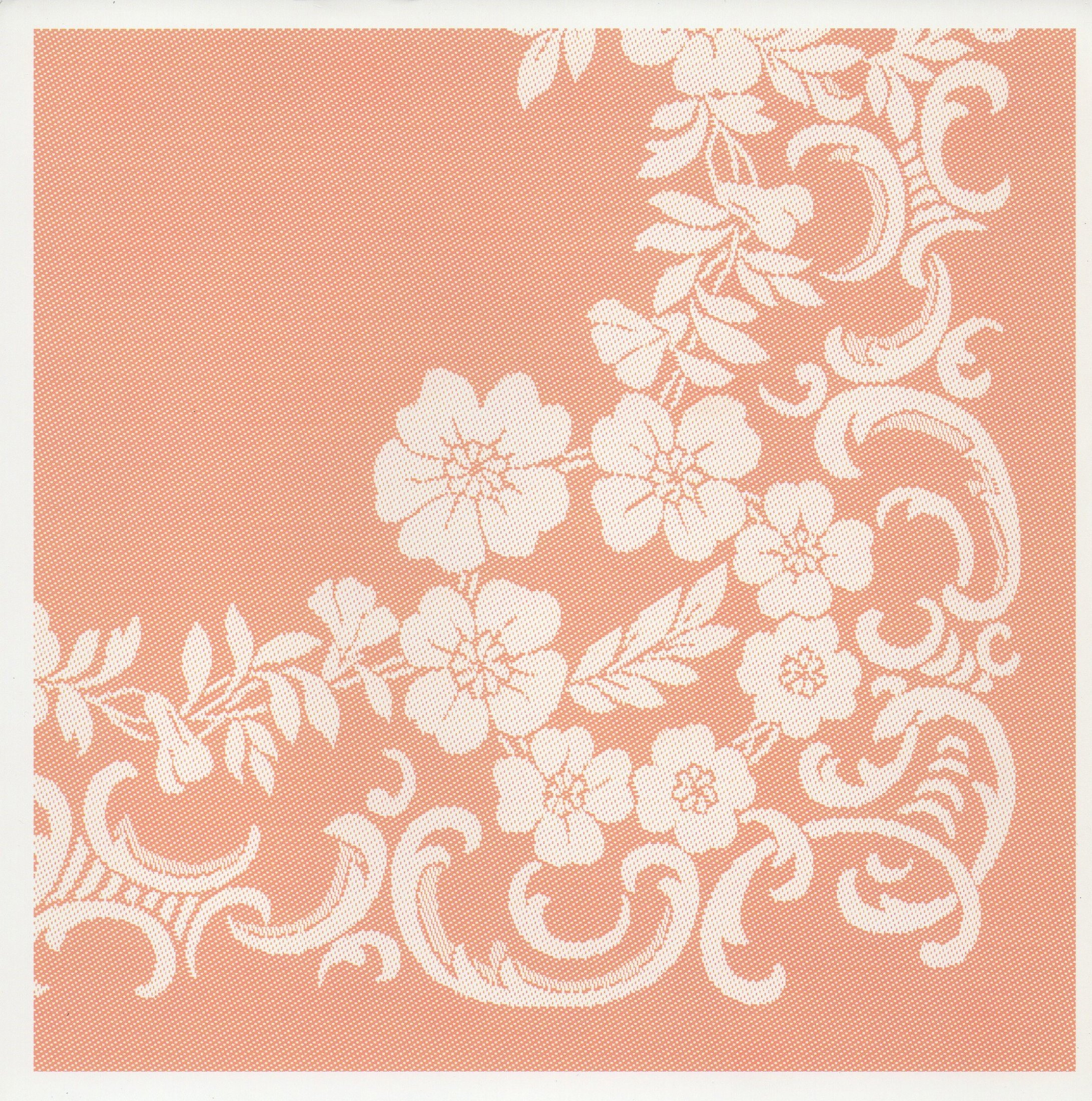 PRANZO Collection Signature Wild Rose Scroll Pattern