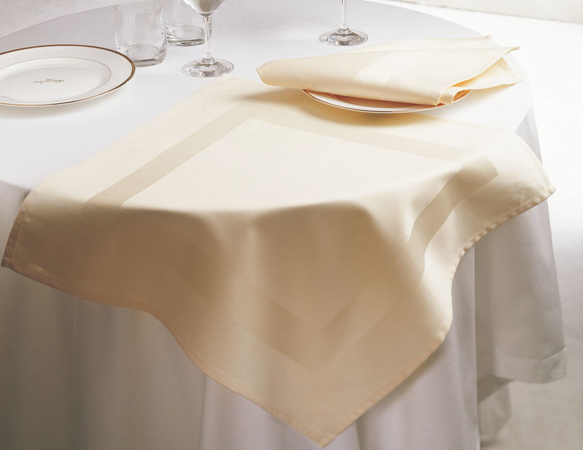 Satin Band Napkin, Cream Color
