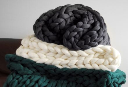 CASTELLO Chunky Braid Throw