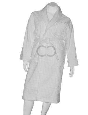 Velour Jacquard Robe
