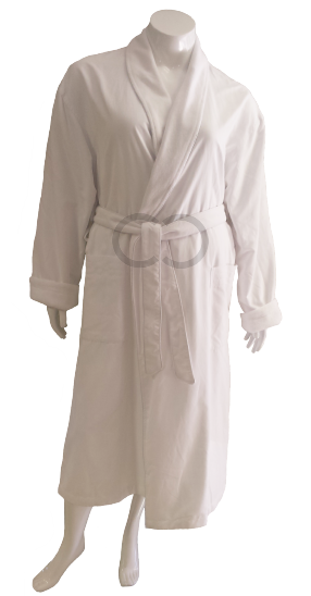 Peach-Fleece Robe