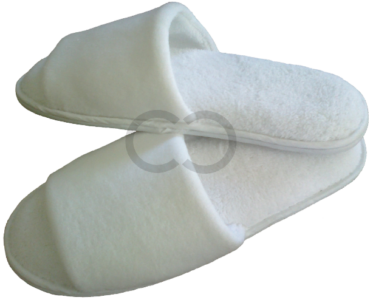 Opened Toe Velour Slipper