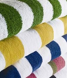 "2"" Striped Pool Towels"